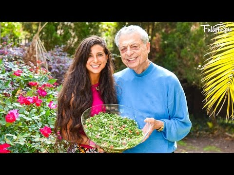 Raw Vegan Tabbouleh with My Grandfather! Lebanese Style!
