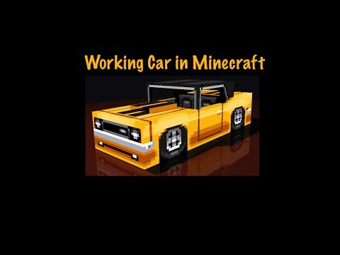 Working Car in Minecraft with No Mods for Single Player How To