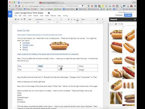 Change the color of the text in Google Docs