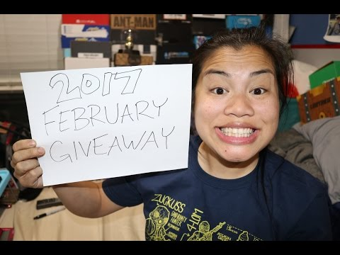WIN FREE STUFF.  [2017 February Giveaway]