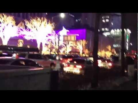 121312 Pt 1. Lotte Dept. Christmas-Walk Through Myeongdong Vlog