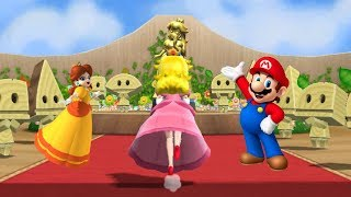 Mario Party 9 - Step It Up - Peach & Mario vs Luigi & Daisy Gameplay | Cartoons Mee