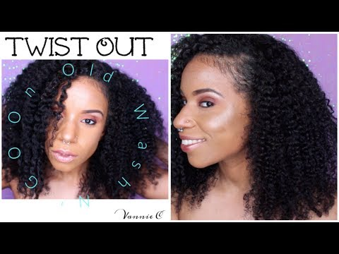 Twist out on Old @ss Wash N' Go