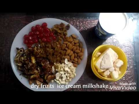 Dry fruits  ice cream milk shake