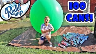 6 FOOT BALLOON WHIPPED CREAM CHALLENGE!