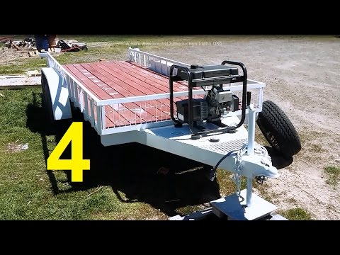 Flatbed Trailer Build from a Salvaged RV frame Pt. 4 The Emma 1