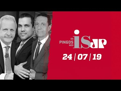 Os Pingos Nos Is - 24/07/19 - Quem paga os hackers? / Moro parabeniza PF / Esquerda ataca ação