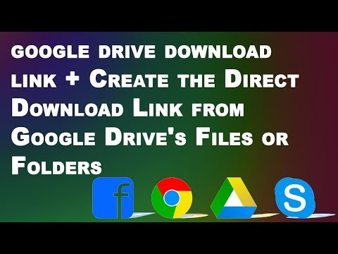 google drive download link + Create the Direct Download Link from Google Drive's Files or Folders