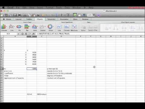 LinearRegression with Excel:Mac