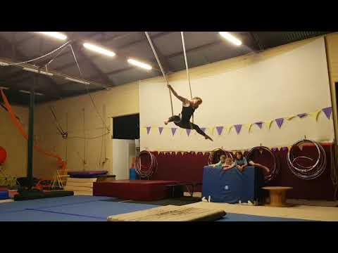 Aerial Cloud Swing circus practise