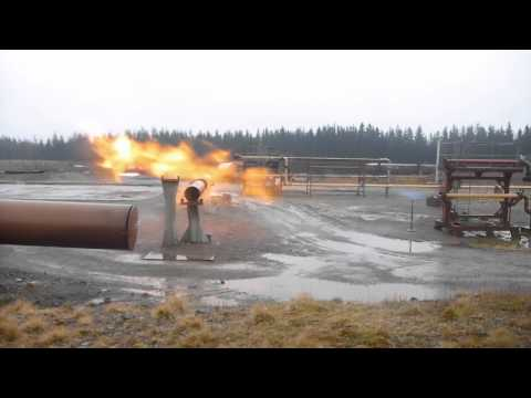 High Power Jet Fire from Natural Gas Leak
