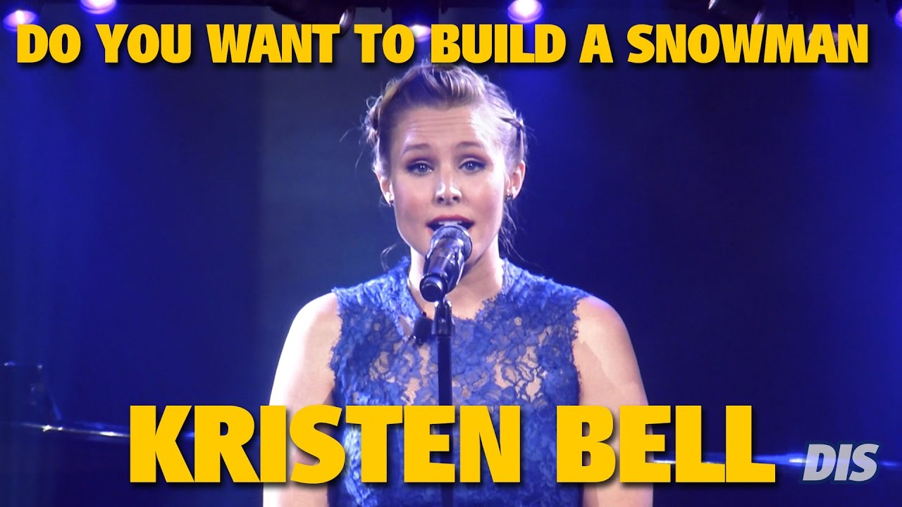 """Kristen Bell sings """"Do You Want to Build a Snowman"""" from Frozen 