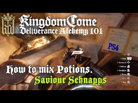 Kingdom Come Deliverance How to mix Potions (PS4)