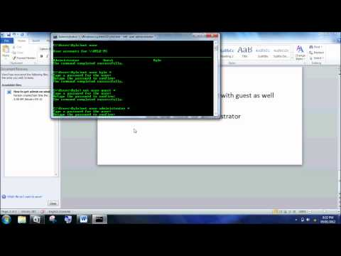 CMD How to get administrator privileges windows 7 Part 3 of 3