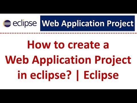 Eclipse - Create Web Application Project