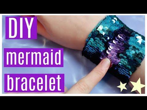 DIY Color Changing Sequin Mermaid Bracelet // How to make a Fidget Toy Bracelet