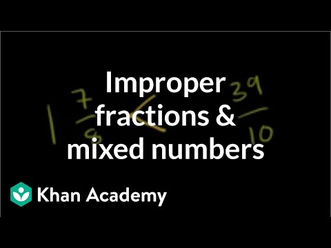 Comparing improper fractions and mixed numbers | Fractions | Pre-Algebra | Khan Academy