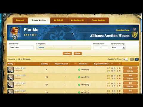 Remote Auction House iPhone App Demo, WoW Gold Tips