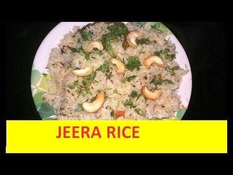 ಜೀರಾ ರೈಸ್ ಮಾಡುವ ವಿಧಾನ ಕನ್ನಡದಲ್ಲಿ - Jeera rice recipe in Kannada
