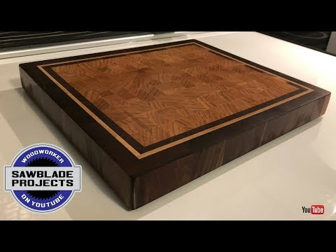 The CHERRY END GRAIN  cutting board with walnut and maple frame