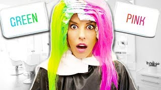 i let my INSTAGRAM FOLLOWERS Control My NEW HAiR COLOR!