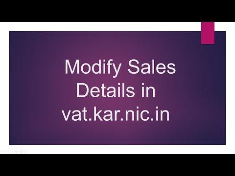 Karnataka VAT Modify Sales Details in vat.kar.nic.in