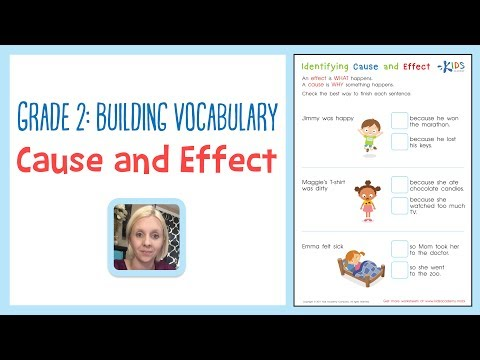 Grade 2: Building Vocabulary - Cause and Effect Worksheets | Kids Academy