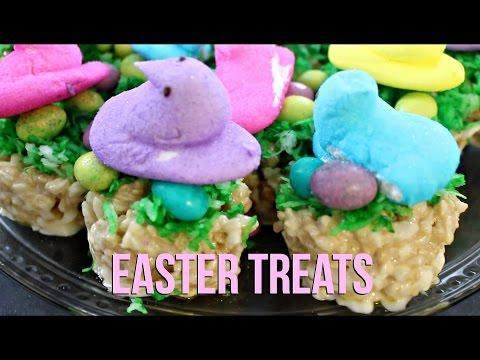 Easter Treats: Rice Krispies Peep Nests