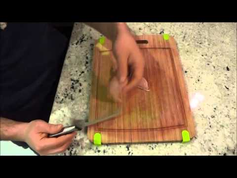 How To Cut A Chicken Breast Into Thin Slices-Cooking Tutorial