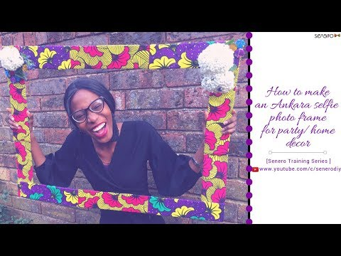 DIY  How To Make An Ankara Selfie Photo Frame (with cardboard box) |  Bridal Shower and Home decor
