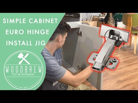 How To Easily Install Euro Cabinet Door Hinges | Woodbrew