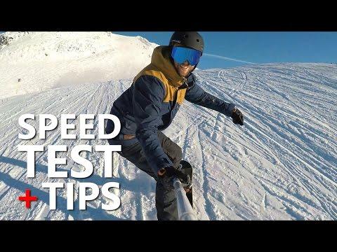 Snowboarding Speed Test & Tips