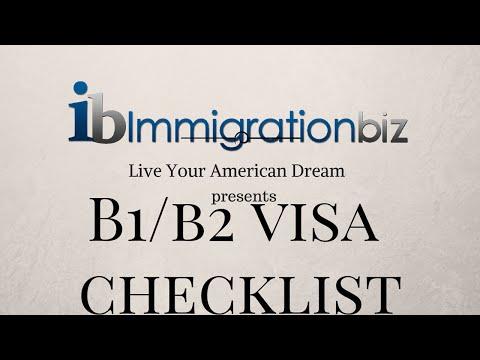 B1/B2 Visa Checklist