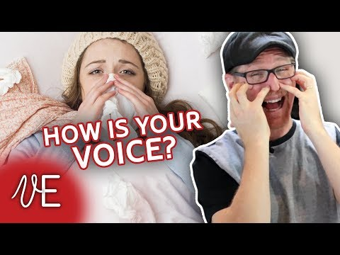How to HEAL YOUR VOICE after a cold | Swollen Vocal Cord Test | #DrDan 🎤