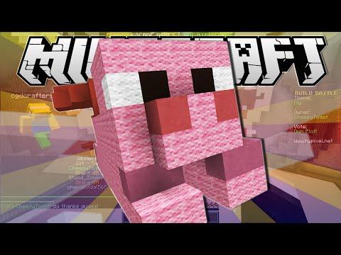 Minecraft | SUPER PIG!! | Build Battle Minigame