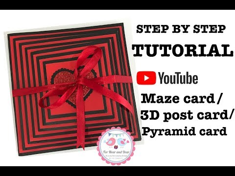 How to make  Maze card/ 3D Postcard / Pyramid card/ Best Handmade Cards