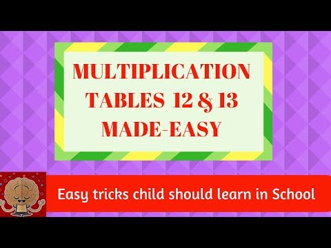 MULTIPLICATION TABLES made easy   Multiplication without table   EASY TRICKS child should learn