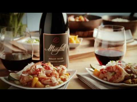 Easy Spicy Mango Shrimp paired with wine