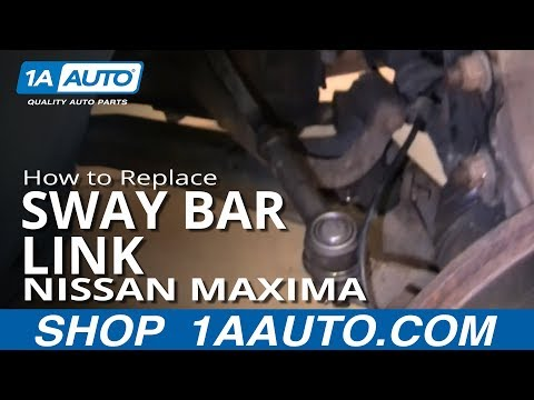 How To Install Replace Broken Rattling Stabilizer Bar Mount 1999-03 Nissan Maxima