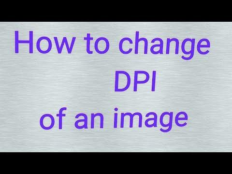 How to change image dpi using photoshop