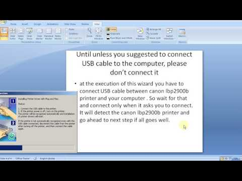 how to install canon lbp2900b printer driver tutorial step by step