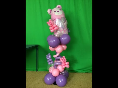 Super Cute Baby Shower Balloon Centerpiece - DIY Tutorial