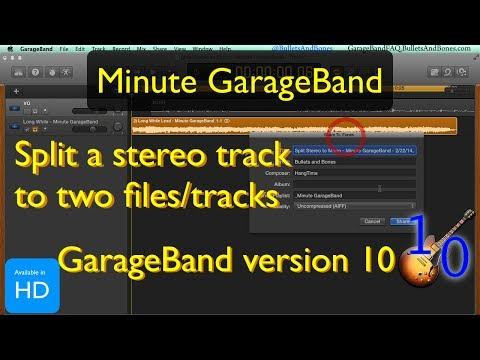 Split Stereo Track to 2 Tracks - Minute GarageBand