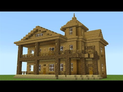 Minecraft - How to build a huge wooden mansion