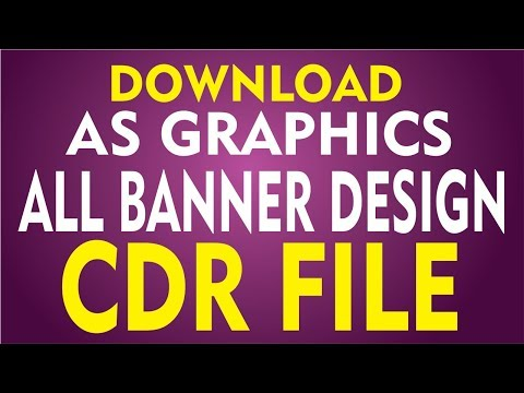 Coreldraw X7 Tutorial - Download AS GRAPHICS ALL Banner Design CDR File free