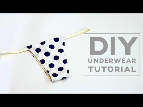 Diy underwear tutorial   Easy sewing tutorial   这种内裤能穿吗?试做就知道了❤❤