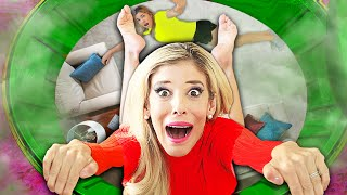 Found Game Master Lair Room Hidden inside Secret Tunnel in Our House! | Rebecca Zamolo