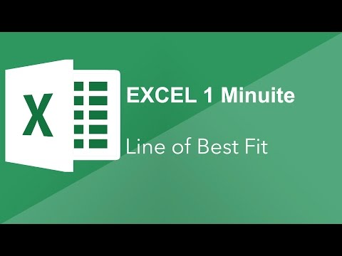 How to add a line of best fit in Excel 2016  - Excel 1 Minute