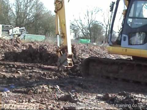 CPCS - Training - 360 Digger Digging Trench & Filling Dumper Truck