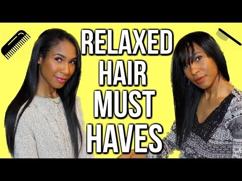 LONG RELAXED HAIR /RELAXER MUST HAVES